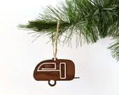 Trailor Metal Ornament by WATTO Distinctive Metal Wear / RV Life / Rusty Metal Ornament / Christmas Gift / Christmas Ornament / Wanderlust