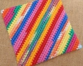 Double Thick Crocheted Potholder  ~  Thick Crocheted Potholder  ~  Crocheted Potholder  ~  Large Double Thick Potholder  ~  Thick Hot Pad