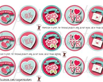 Be Mine Valentine Bottle Cap Images