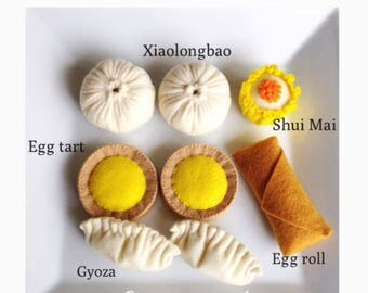 "Etsy pretend felt food play food "" Dim sum set """