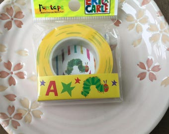 Official Very Hungry Caterpillar Tape - 2014 Design -  Japanese Funtape Masking Tape 15mm x 15m