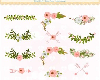ON SALE Flowers Corner Clipart Pink Floral Border Clipartflowers Text Divider