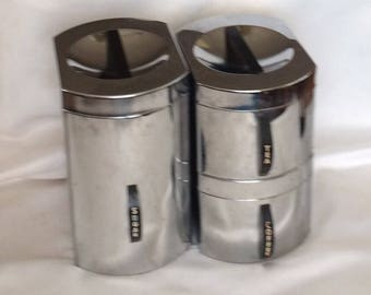 1950's Kromex Chrome Stacking Canister Set
