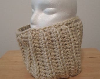 Cowl - Crochet Cowl in the Color Cream