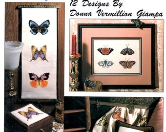 Winged Beauties Butterflies Monarch Swallowtail Blues Moths Afghan Counted Cross Stitch Embroidery Craft Pattern Leaflet Leisure Arts 2166