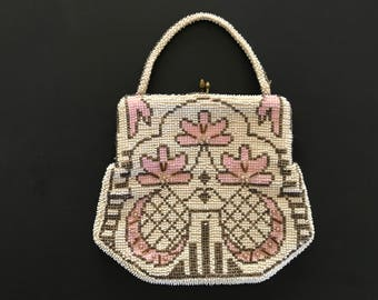 Vintage Art Deco Beaded Evening Bag made in Czechoslovakia