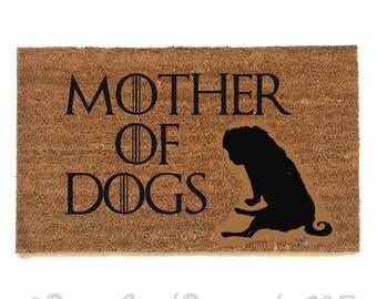 CUSTOM Mother of DOGS daenerys targaryen Game of Thrones GOT outdoor fandom doormat