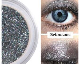 SALE Eyeshadow, Brimstone, Pewter Eye Shadow, Mineral Eyeshadow, Mineral Makeup, Vegan, Cruelty Free, Eye Makeup, Smokey Eye, Smoky