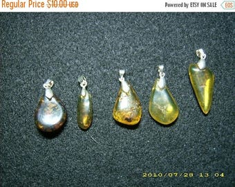 SALE Dominican Amber Pendants