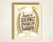 Funny Birthday Card - Sickeningly Magical