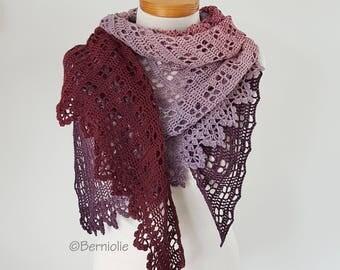 NOMNOM, Crochet shawl pattern pdf