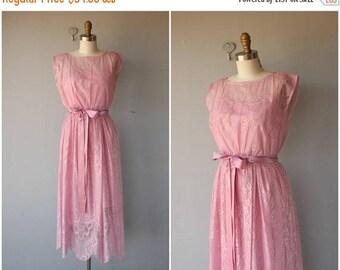 48 HR FLASH SALE 1970s Dress   70s Dress   Pink Lace Dress   1970s Midi Dress   70s Bohemian Dress ? 70s party Dress   1970s Cocktail Dress
