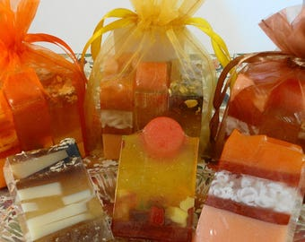 Fall Trio Soaps - Autumn Soaps -  Thanksgiving Soaps - Glycerin Soaps - Fall - Autumn -  Party Favors -Hostess Gift - Mini Soaps