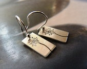 Dandelion Sterling silver earrings, dangle earrings, gift for daughter, 30th birthday gift, 20th birthday, small gift, everyday wear