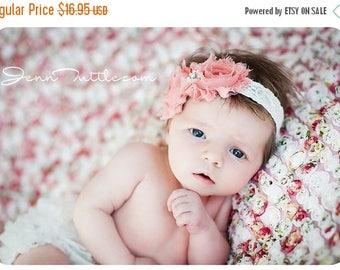SALE Baby girl Set- BABY BLOOMER and Headband Set, Shabby Chic headband,Ruffle bloomer,Diaper Cover,Cream Bloomer, Baby Headband, Newborn bl