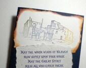 CHEROKEE PRAYER BLESSING - Native American Inspired Mixed Media Greeting Card (wedding, housewarming)