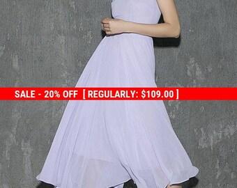 purple dress, chiffon dress, midi dress, wedding dress, fit and flare dress, wedding dress, bridesmaid dress, handmade dress  (1311)