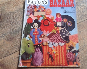 Book of Vintage Knitting and Crochet Patterns , Vintage Bazaar and Novelty Items
