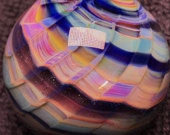 Girliegirlglass handmade multicolored borosilicate marble signed (Girlie 18)