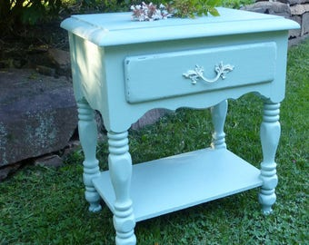 NIGHTSTANDS Cottage Spindle Style Vintage Farmhouse Bedside Tables Custom PAINT to ORDER Poppy Cottage Painted Furniture