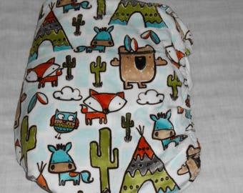 Minky Fox Owl, Cactus, Donkey, and Tee Pee Fitted Baby Crib Sheet