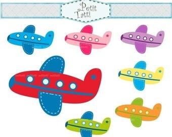 ON SALE airplane clip art - plane clip art, Aeroplane Clip Art, instant download, digital clip art
