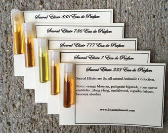 Natural Perfume  - Samples - Choose 3 - JoAnne Bassett Perfume