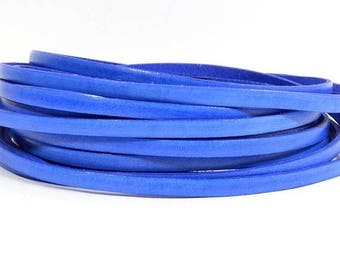 25% Off Blueberry - 5mm Flat Italian Dolce Leather - L5F-D11 - Choose Your length