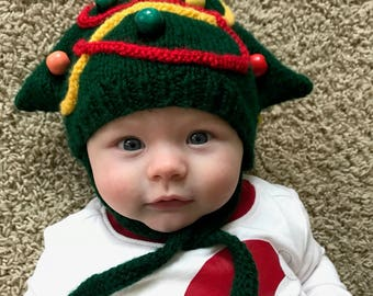 Christmas Tree Baby/Toddler Hat