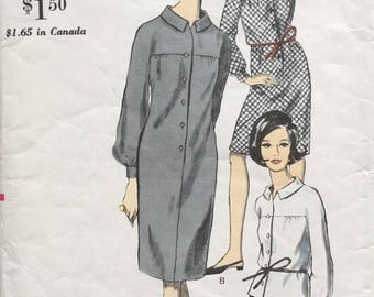 End of May Sale Vintage Vogue 6573 Sewing Pattern Bust 34 Mid-Century Mod Shirt Dress and Skirt 1960s