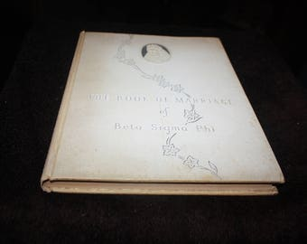 vintage antique The Book of Marriage of Beta Sigma Phi