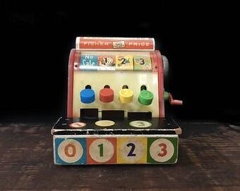 Fisher Price Cash Register, Toy Register, Vintage Register, General Store Register, Primary Colors, ABCs, 123s