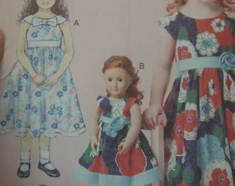 Girls n American Girls  Matching Doll Patterns--Girls Multi 3-8  Sizes  40-70% off Patterns n Books SALE