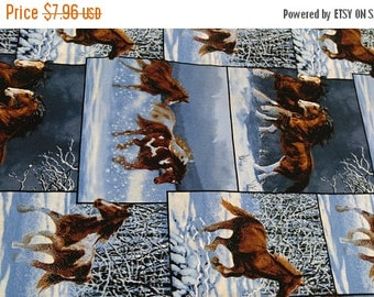 Horses Running in the Snow Fabrics--Hard Find--Gorgeous--SALE