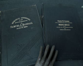 Antique Books Memorial Addresses of Samuel J. Randall and One of Francis W. Cushman - Early 20th Century - Reference America