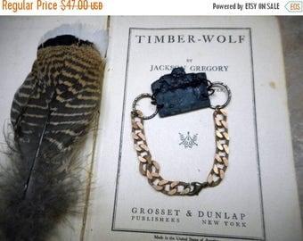 SALE Armor Plated. Armadillo Bone and Chunky Copper Bracelet. Unisex. OOAK