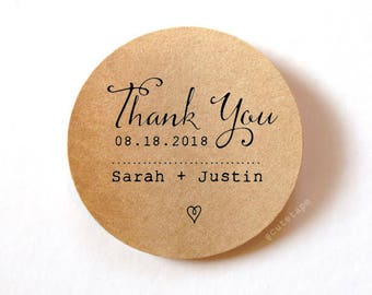 Thank you labels Thank You Stickers Wedding Stickers Wedding Favor Stickers 1.5 inch