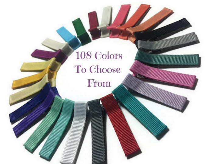 100 Solid Lined 45mm Alligator Clips