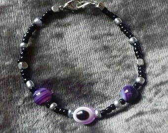 Purple Evil Eye Bracelet