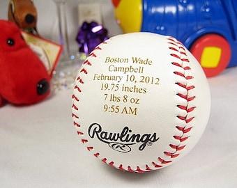 custom listing for Lauren - 2 engraved baby baseballs