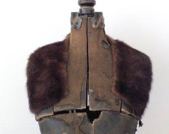 Vintage Fur Collar • Vintage Small Brown Short Fur Collar