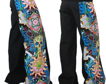 Pants pattern large psychedelic, customizable and measures