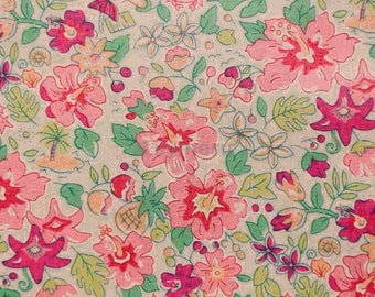 Liberty tana lawn printed in Japan - Aloha Betsy - Pink  mix