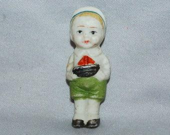 Vintage / Bisque / Doll / boy / sailboat / frozen charlotte / penny doll / vintage dolls
