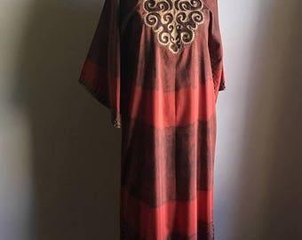 SUMMER SALE 60s Ethnic Bohemian Vintage Caftan • Long Kaftan