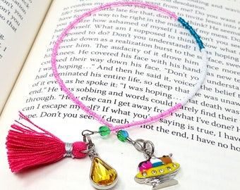Beaded Ice Cream Sundae Bookmark Book Thong, Gifts for Authors Writers Readers, Childrens Young Adults Bookmarks, Gifts for Teachers