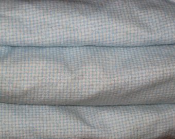 Baby Blanket Down Duvet Blue Flannel Cotton Gingham Check With Zipper Childs Lap Quilt So Soft!