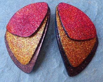 Butterfly wings stud polymer clay earrings