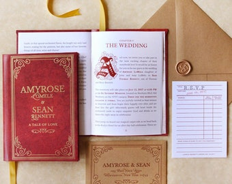 Fable - Storybook Wedding Invitation - SAMPLE ONLY (Price is not full order per unit price, see description)
