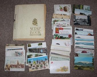 Lg Lot of Vtg Postcards Photographs Scrap Book Loose 1900s-1950s Travel Scenics